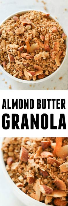 Recipe Chicken Fried Rice - How to Cook Chicken Fried Rice Almond Butter Granola Recipe From This Healthy Almond Butter Granola Is An Easy And Delicious Addition To Any Breakfast Routine Or Perfect For A Healthy Snack Best Breakfast Recipes, Easy Healthy Breakfast, Breakfast For Kids, Brunch Recipes, Snack Recipes, Breakfast Ideas, Eat Breakfast, Breakfast Dishes, Ww Recipes