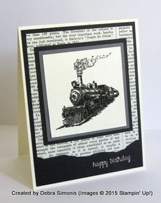Crazy for Trains! by speedycrab - Cards and Paper Crafts at Splitcoaststampers