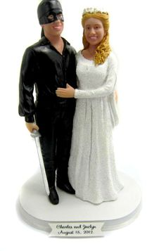 Custom Princess Bride Wedding Cake Topper
