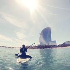 sup, stand up paddle, barcelona, barceloneta, w hotel, bella hotel, alegria, walk is an illusion