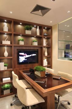 Home Office Design Modern is totally important for your home. Whether you pick the Corporate Office Design Workspaces or Home Office Design Modern, you will create the best Corporate Office Decorating Ideas for your own life. Home Office Furniture Design, Modern Home Office Furniture, Office Interior Design, Office Interiors, Furniture Ideas, Office Cabin Design, Small Office Design, Office Designs, Corporate Office Decor