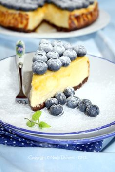 Just Good Food: Cheesecake with blueberries