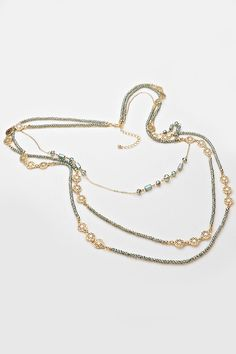 Crystal Kira Necklace in Soft Teal