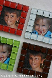 Mosaic fridge magnets @ Love and Lollipops