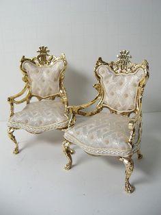 DSCN9964 | 1:12 Gold Leaf Palace Chairs | Ken Haseltine Regent Miniatures | Flickr