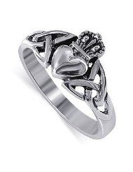 I have this Claddaugh right now. I want one with a diamond :)