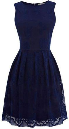 Navy blue lace