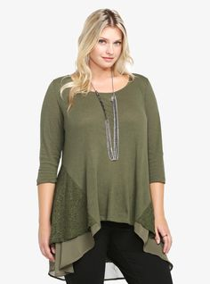 Double Layer Hi-Lo Swing Top...twice as gorg. Whitney Wells curve model
