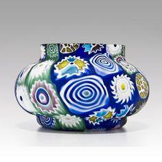 Rare Fratelli Toso 'Murrine millefiori' vase, 1910