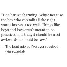 Never trusted charming