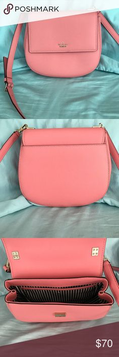 Kate Spade cross body purse Kate Spade pink cross body purse. Removable strap so you can mix and match with any strap of your choice. kate spade Bags Crossbody Bags