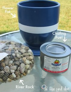 ******* LUV IT ******* 141024f... How To Make Your Own Small Fire Pit, S'mores bar anyone?