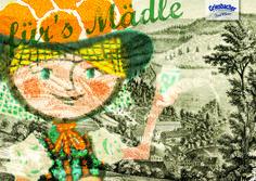 Schwarzwald Kunstpostkartenmotiv zum 80jährigen Jubiläum des Griesbacher Mineralbrunnen