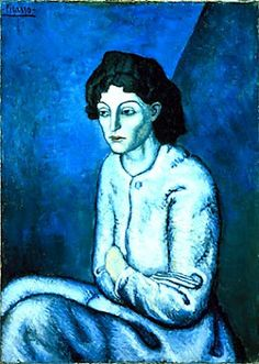 Pablo Picasso, Women With Crossed Arms, 1902. Oil on Lithograph. Private Collection