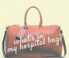 Find out what I packed to prepare for the sweet arrival of le bebe!