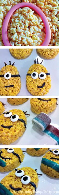 Create the ultimate family movie night with everyone's favorite animated film and Minion treats to match! Rice Krispies Treats® are a quick and easy way to provide a kid-friendly snack that fits any theme, and the kiddos will love the little bits of candy in each bite.