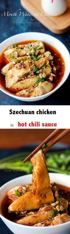 Saliva chicken--Szechuan chicken in hot chili sauce