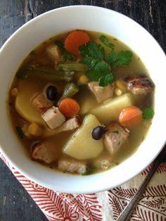 Vegetable Pork Soup with Cuban Seasoning