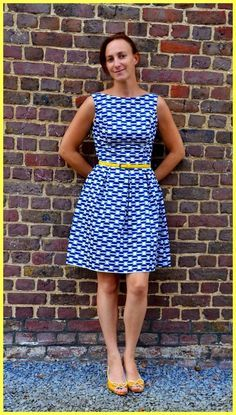 De June dress van La Maison Victor. Patroon te vinden op http://www.lamaisonvictor.com/nl/products/048895/June-dress