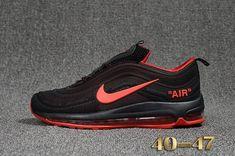 Cheap Off White X Nike Air Max 97.2 KPU Mens shoes #Black #Red #Max97.2 WhatsApp:8613328373859