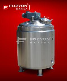 Paslanmaz Çelik Atmosfere Kapalı Basınçlı Tank | Füzyon Makina