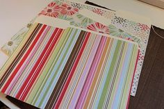 Easy DIY decorative file folders using scrapbook paper