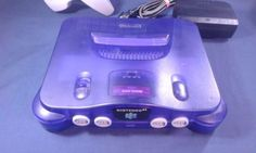 NINTENDO-64-Funtastic-Series-N64-GRAPE-PURPLE-Console-w-Controller-Power-Cord