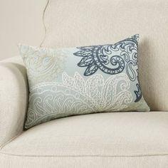 Charlton Home William Embroidered Cotton Lumbar Throw Pillow Color: Blue Lumbar Throw Pillow, Cotton Pillow, Throw Pillow Sets, Outdoor Throw Pillows, Decorative Throw Pillows, Pillow Reviews, Cushion Pads, Comforter Sets, Birch Lane
