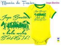 Joga bonito e bola neles Brasil!  #body #kids #bebe #roupinha #bodysuit #camiseta #tshirt #selecaobrasileira #futebol #brasil #brazuca #fuleco #neymar #hexa #hexabrasil #campeao #championship #copadomundo #worldcup #footbal #fifa