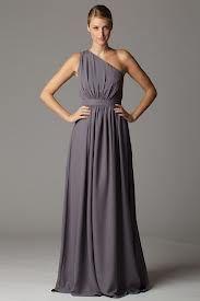 Flowy bridesmaid dresses...but in gun metal gray.