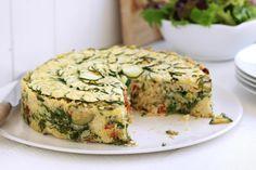 Spinach, zucchini and ricotta rice tart main image