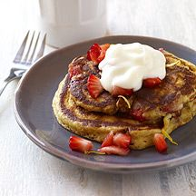 Whole Wheat Strawberry Pancakes - Weight Watchers, 5 points