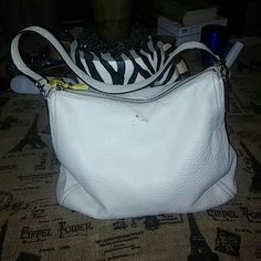 Kate Spade Handbag Great condition only had one flaw in third picture all leather super nice.  Inside is perfect trade value 300 kate spade Bags