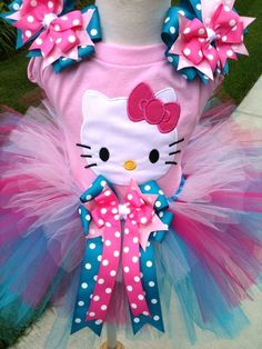 Hello Kitty shirt and easy tutu.... Bday outfit