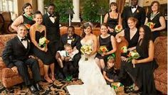 Beautiful Interracial Newlyweds and Wedding Party!