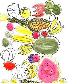 Fruits I illustration by Filipe Jardim