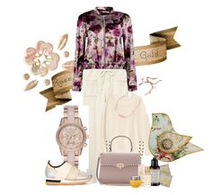 """rose gold"" by peeweevaaz ❤ liked on Polyvore featuring MICHAEL Michael Kors, Philippe Model, Valentino, J.Crew, Boohoo, casual, outfit, polyvoreeditorial and polyvorefashion"