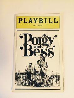 Broadway Playbill Porgy and Bess Uris Theatre 1976 Vintage