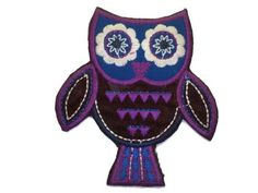 Iron on Applique Patch Owl by twinklespatches on Etsy, CHF6.80