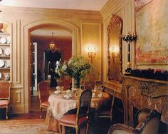 [Blog with Design Tips] Cream and Gold Aubusson Rugs Enrich 4 Traditional Interiors. Interior design by William Eubanks
