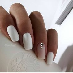 Exact nails, cute fashion nails, delicate wedding nails, long nails, nails for . # for # wedding nails # fashion nails. Nail Polish, Nail Manicure, White Manicure, Matte White Nails, White Nail Art, Long White Nails, White Summer Nails, Nail Pink, Orange Nail