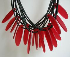 Lydia Bremer - necklace: acrylic and rubber