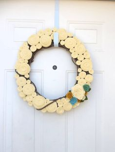 SALE pop of color wreath by handmadeCOLEctibles on Etsy