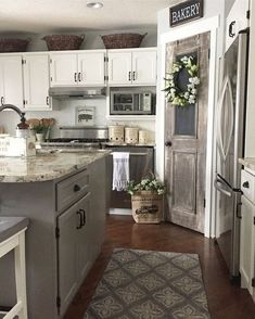 Here are the Farmhouse Chic Kitchen Decor Ideas. This post about Farmhouse Chic Kitchen Decor Ideas was posted under the … Shabby Chic Kitchen, Farmhouse Kitchen Decor, Kitchen Redo, Farmhouse Chic, Kitchen Ideas, Kitchen Paint, English Farmhouse, Kitchen Makeovers, Farmhouse Rugs