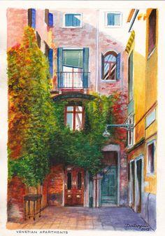 Dai Wynn - Apartments on the Calle Larga de la Donzella, Venice, Italy.