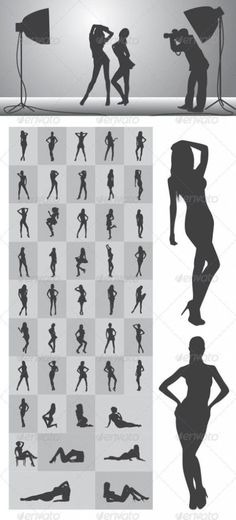 Girl Silhouettes #GraphicRiver Nice and High Detail Silhouettes. in this items onsists of : Ai ( open with adobe illustrator ) EPS ( open with adobe illustrator or applications that supports eps file ) PNG ( open with adobe photoshop ) SVG ( open with inkscape – free vector software ) CDR ( open with corel draw ) i hope you like it, thanks visit my silhouettes collection graphicriver /collections/3119286-silhouettes Created: 13March13