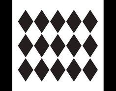 Large Diamonds Pattern Stencil  Select Size by por StudioR12