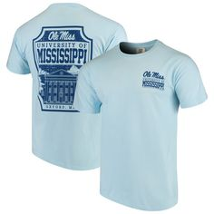 Prove you're the ultimate Ole Miss Rebels fan when you rock this Campus Icon T-shirt. It's decorated in impressive graphics and team colors to show off your spirited loyalty. You'll love cheering your Ole Miss Rebels to victory in this sweet tee. Ole Miss University, University Of Mississippi, Ole Miss Campus, Ole Miss Rebels, Comfort Colors, Books Online, Light Blue, Tees, Mens Tops