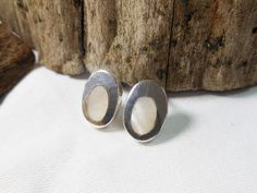 Modern Sterling Silver White Mother Pearl Oval Earrings,Mother Pearl Earring,Oval Earring,Shell Earring,Personalized Gifts,Gifts For Her by Supsilver on Etsy