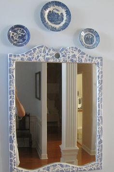 Dens gens Creatifs: Oriental Blue Mosaic Mirror